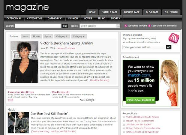 WordPress Magazine Theme Studiopress