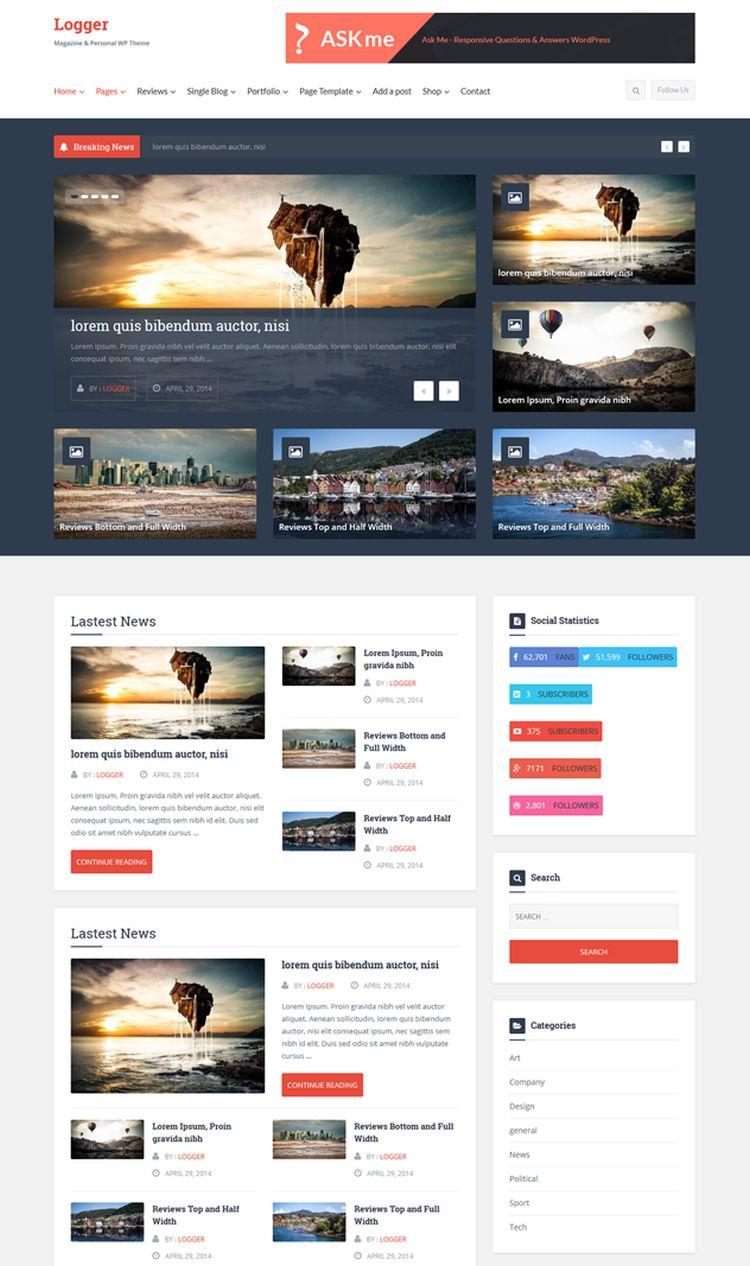 Logger WordPress Magazine
