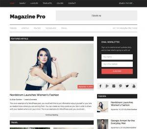 Magazine Pro thema van StudioPress
