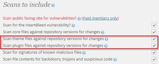 WordPress Magazine Wordfence Security Scan Optie
