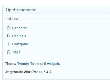 Oude WordPress Versie 3 4 2