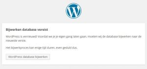 Bijwerken database wordpress