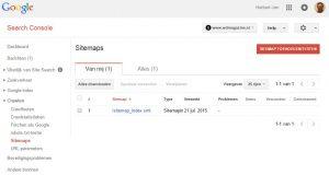 Search Console - XML Sitemap toevoegen