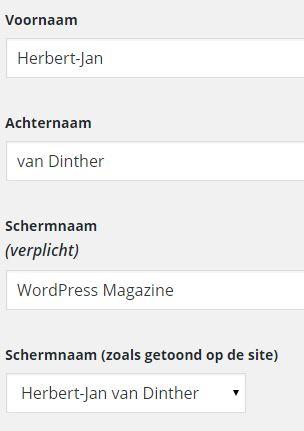 Profiel Schermnaam