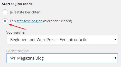 Statische Homepage en Blog - Nieuws Pagina