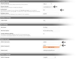 WordPress Installatie Opties