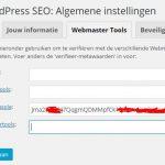 WordPress SEO Google Verificatie