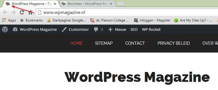 WordPress Magazine Favicon