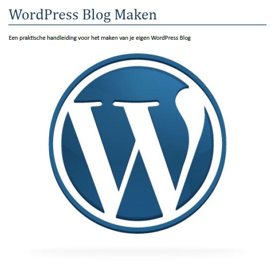 WordPress Blog Maken