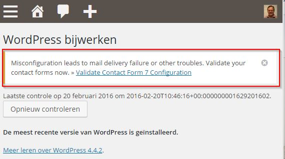 Contact Form 7 Validatie Melding