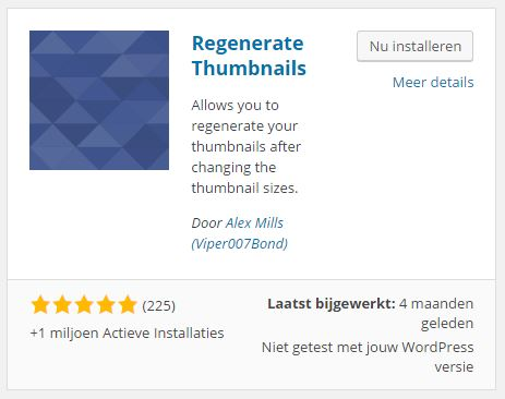 Regenerate Thumbnails Plugins toevoegen ‹ WordPress Magazine