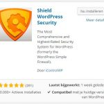 Shield Plugin toevoegen ‹ WordPress Basis