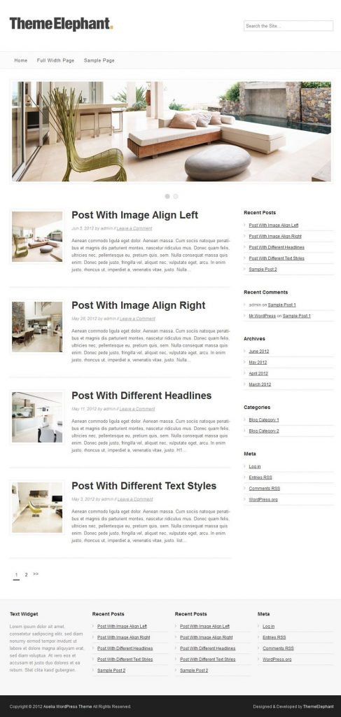 Aselia WordPress-Theme