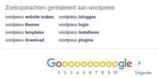 Zoekopdrachten gerelateerd aan WordPress