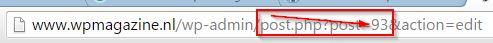 WordPress Post ID opzoeken