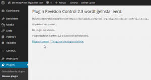 WordPress Plugins Activeren