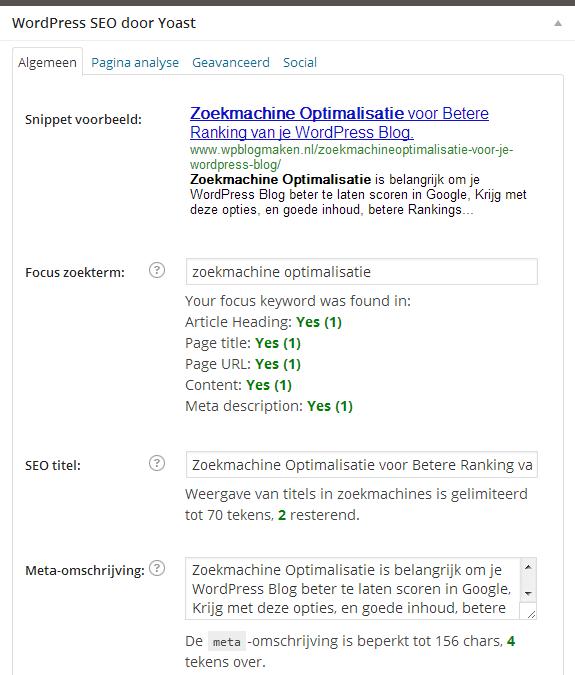 Zoekmachine Optimalisatie voor WordPress Blogs