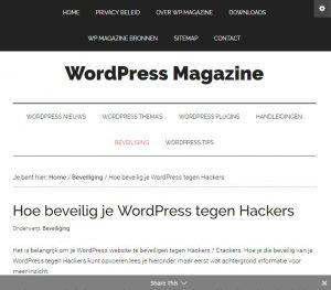 Basis Mobiel Beveiligings bericht WP Magazine