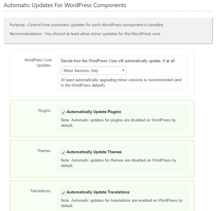 Automatic Updates met Shield