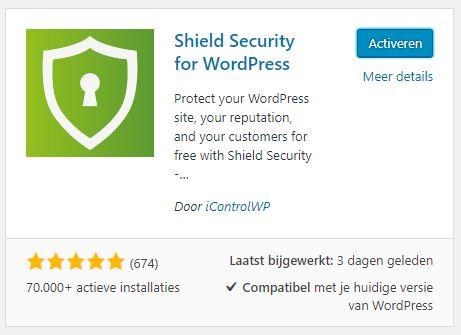 Shield met ingebouwde spam reactie blokkering