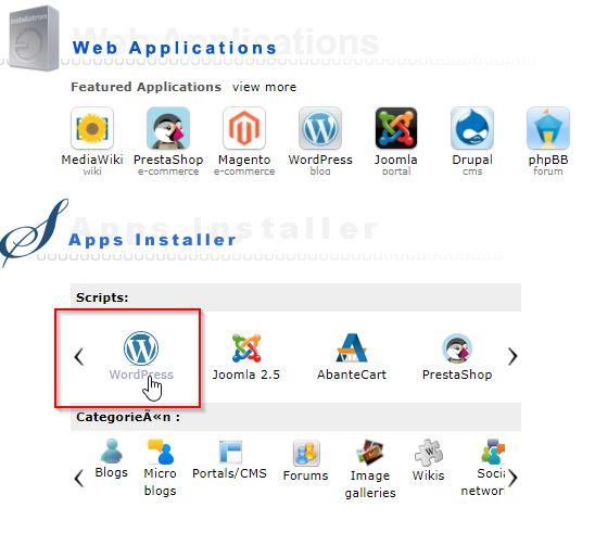 DirectAdmin WordPress Script Installatie