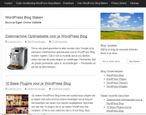 WordPress Thema Activetab voor je WordPress Blog kiezen